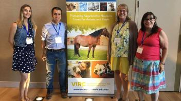 Members of the VIRC attend the NAVRMA (North American Veterinary Regenerative Medical Association) conference in Sacramento, September 2018