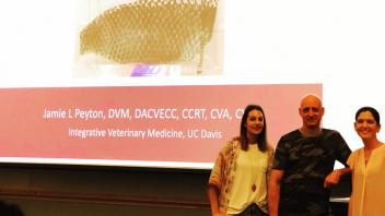 Dr. Jamie Peyton gave a special virc seminar on her novel use of tilapia skin for burn injury tissue healing.